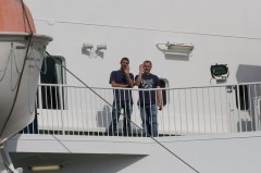 Me and Dave on the boat